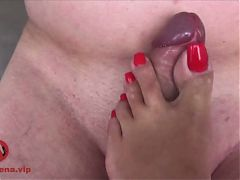 Ebony Footjob Pt 6