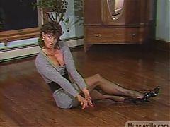 Joanne McCartney - short grey dress, indoor