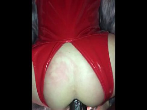 Teasing Granny knows in Red Latex she gets good ass fuck  - MommaScarlet