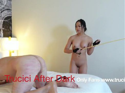 Only Fans Sexy Mistress Trucici Gives Her Cuck Sissy A Hand Job and Spanking
